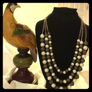 Vintage Green Beads, Faux Pearls!